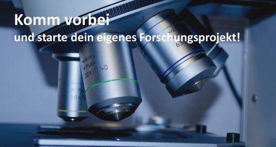 Anmeldung von Jugend forscht Projekten bis zum 30. November