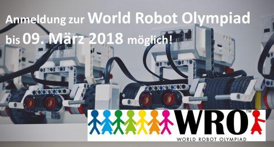 Melde Dich für die Regular Category der WRO 2018 im BFZ an!